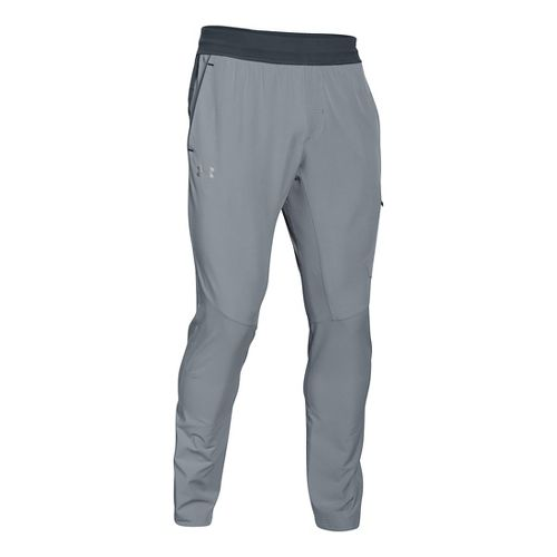 Mens Under Armour Circuit Woven Tapered Pants - Steel L-R