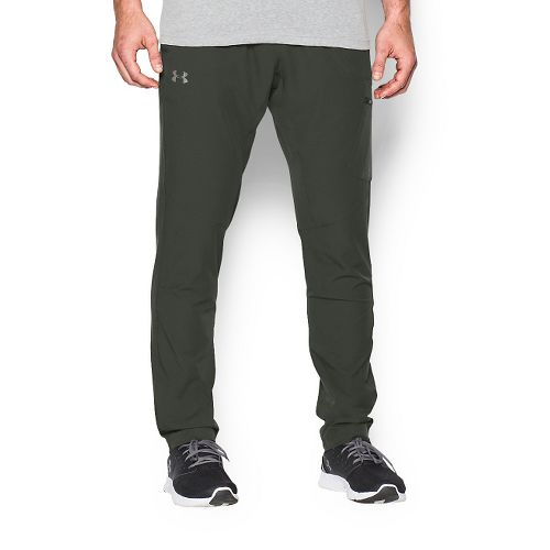 Mens Under Armour Circuit Woven Tapered Pants - Combat Green XS