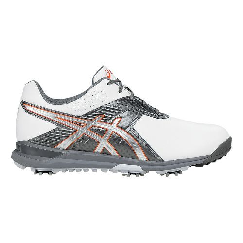 Mens ASICS GEL-Ace Tour 2 Cleated Shoe - White/Titanium 7.5