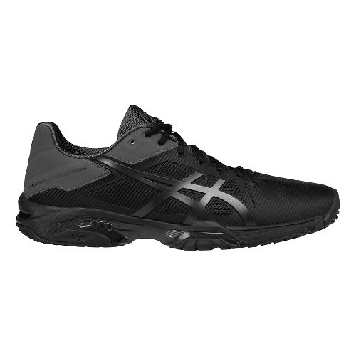 Mens ASICS GEL-Solution Speed 3 Court Shoe - Black/Grey 10.5