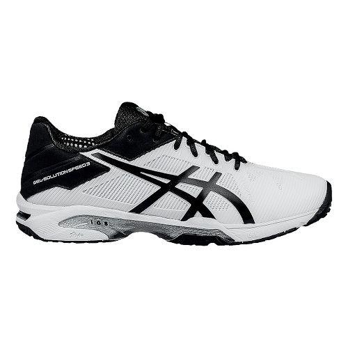 Mens ASICS GEL-Solution Speed 3 Court Shoe - White/Black 9