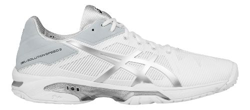 Mens ASICS GEL-Solution Speed 3 Court Shoe - White/Silver 9