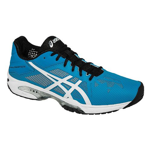 Mens ASICS GEL-Solution Speed 3 Court Shoe - Blue/White 9