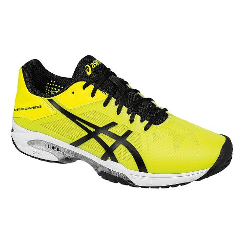 Mens ASICS GEL-Solution Speed 3 Court Shoe - Safety Yellow/Black 10