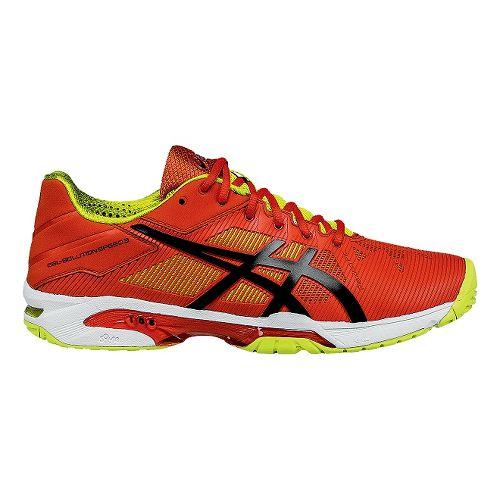Mens ASICS GEL-Solution Speed 3 Court Shoe - Orange/Black 9.5