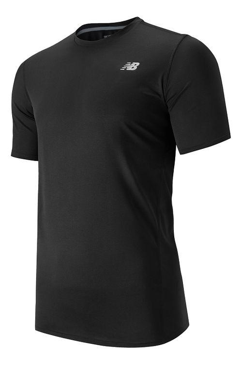 Mens New Balance Accelerate Short Sleeve Technical Tops - Black L