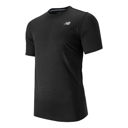 Mens New Balance Accelerate Short Sleeve Technical Tops - Black L