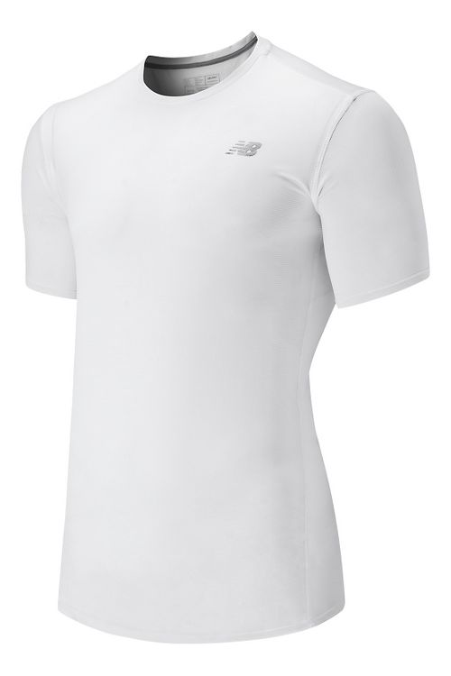 Mens New Balance Accelerate Short Sleeve Technical Tops - White S