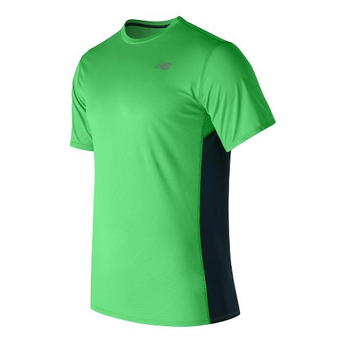 Mens New Balance Accelerate Short Sleeve Technical Tops - Vivid Cactus M
