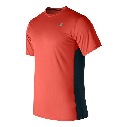 Mens New Balance Accelerate Short Sleeve Technical Tops - Alpha Orange L