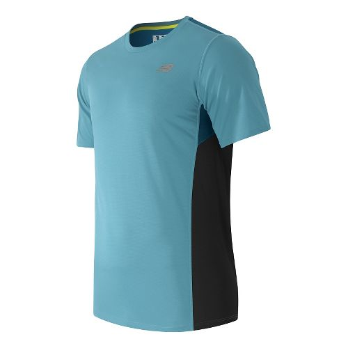 Mens New Balance Accelerate Short Sleeve Technical Tops - Riptide XL
