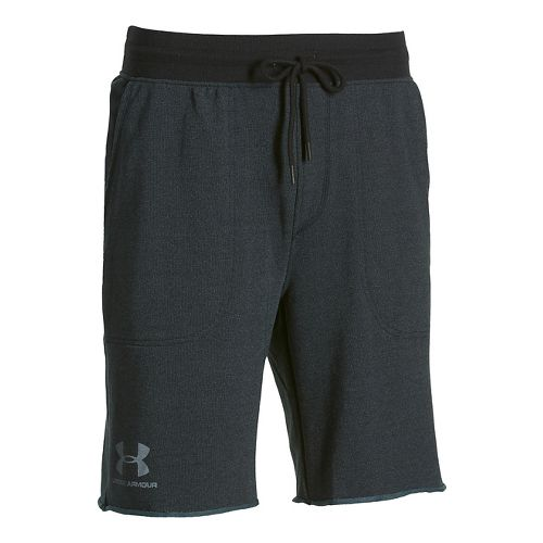 Mens Under Armour Beast Terry Unlined Shorts - Asphalt Heather M