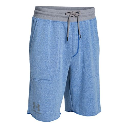 Mens Under Armour Beast Terry Unlined Shorts - Royal 4XL