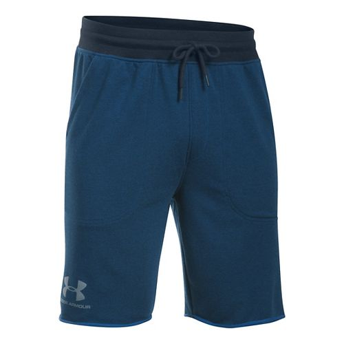 Mens Under Armour Beast Terry Unlined Shorts - Blackout Navy L