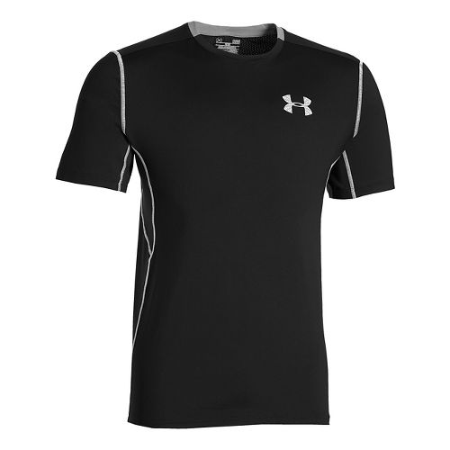 Mens Under Armour CoolSwitch Run Short Sleeve Technical Tops - Black 4XLR