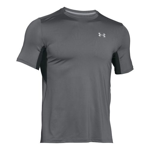 Mens Under Armour CoolSwitch Run Short Sleeve Technical Tops - Black 3XLR