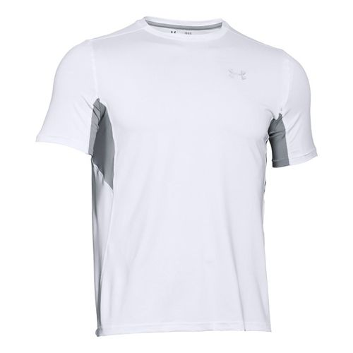 Mens Under Armour CoolSwitch Run Short Sleeve Technical Tops - White XXLR