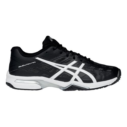 Mens ASICS GEL-Solution Lyte 3 Court Shoe - Black/White 12