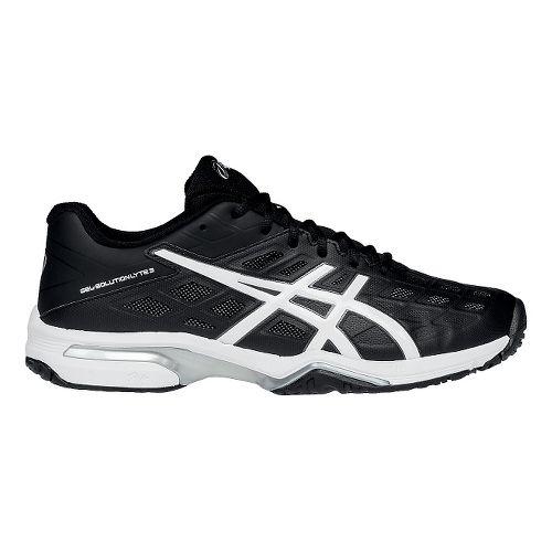 Mens ASICS GEL-Solution Lyte 3 Court Shoe - Black/White 13