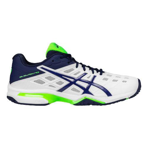 Mens ASICS GEL-Solution Lyte 3 Court Shoe - White/Blue 10.5