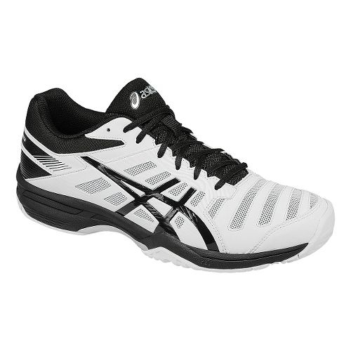 Mens ASICS GEL-Solution Slam 3 Court Shoe - White/Black 7