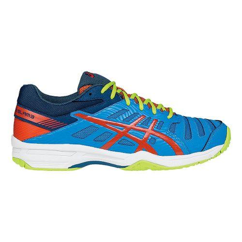 Mens ASICS GEL-Solution Slam 3 Court Shoe - Blue/Orange 11