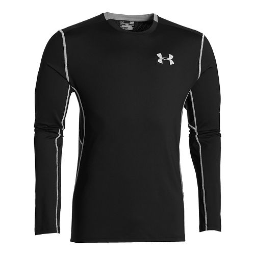 Mens Under Armour CoolSwitch Run Long Sleeve Technical Tops - Black 4XLR
