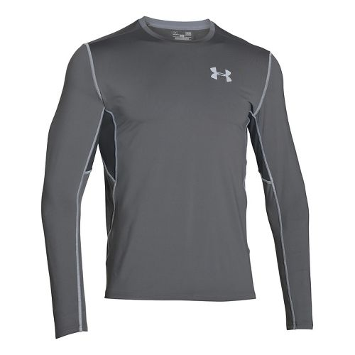 Mens Under Armour CoolSwitch Run Long Sleeve Technical Tops - Graphite XLR