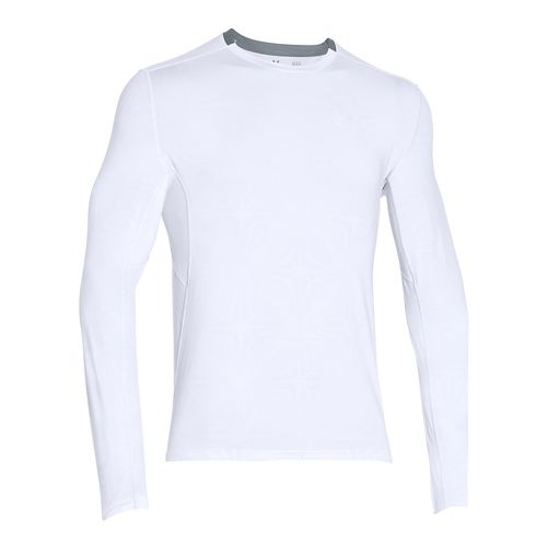 Mens Under Armour CoolSwitch Run Long Sleeve Technical Tops - White LR