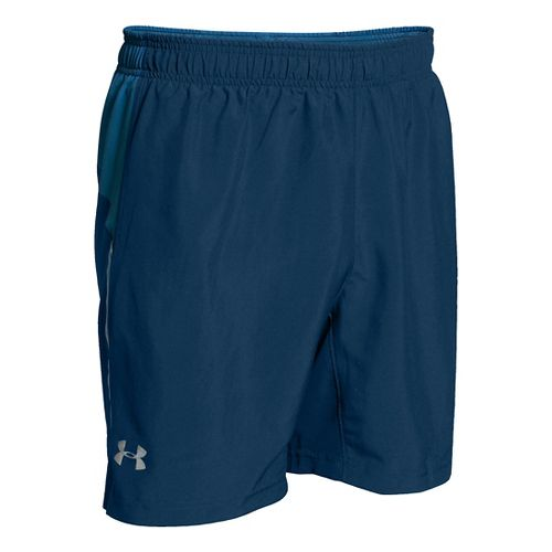 Mens Under Armour CoolSwitch Run 2-in-1 Shorts - Blackout Navy SR