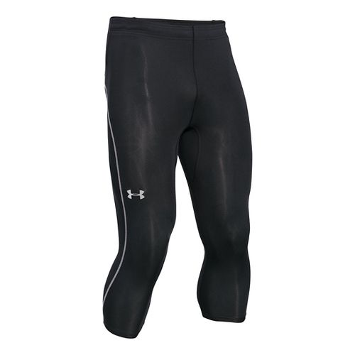 Mens Under Armour CoolSwitch Run Compression 3/4 Legging Capris Pants - Black LR