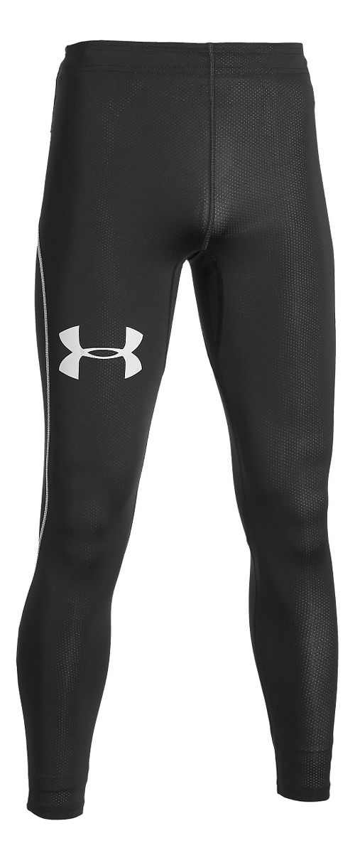 Mens Under Armour CoolSwitch Run Compression Tights & Leggings Pants - White LR