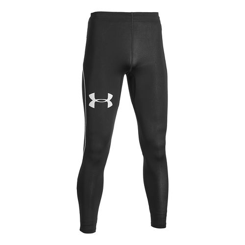 Mens Under Armour CoolSwitch Run Compression Tights & Leggings Pants - White MR