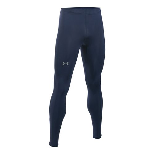 Mens Under Armour CoolSwitch Run Compression Tights & Leggings Pants - Midnight Navy LR