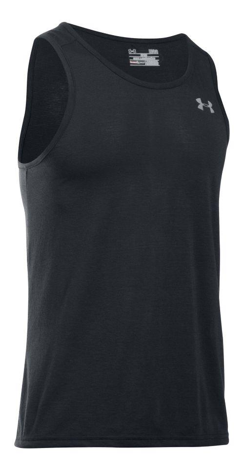 Mens Under Armour Streaker Singlet Sleeveless & Tank Tops Technical Tops - Black L