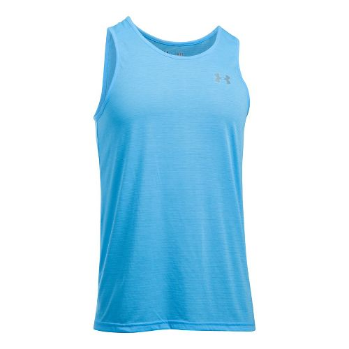 Mens Under Armour Streaker Singlet Sleeveless & Tank Tops Technical Tops - Carolina Blue XXL ...