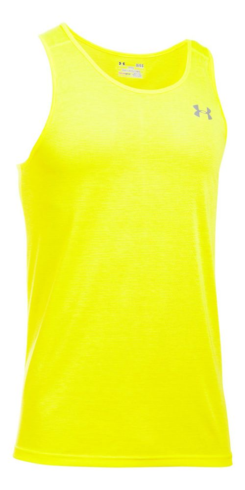 Mens Under Armour Streaker Singlet Sleeveless & Tank Tops Technical Tops - Yellow Ray M