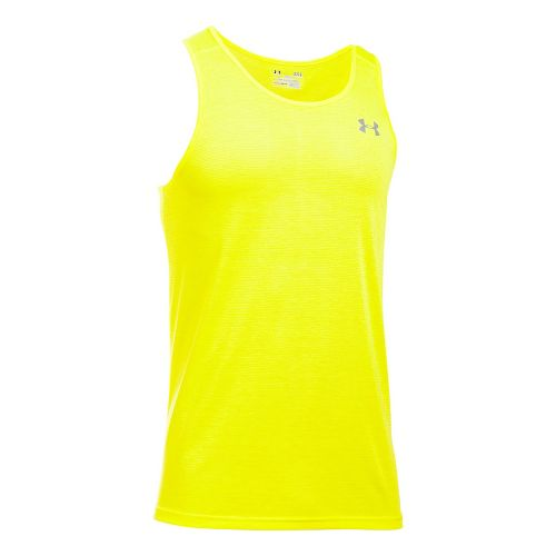 Mens Under Armour Streaker Singlet Sleeveless & Tank Tops Technical Tops - Yellow Ray S