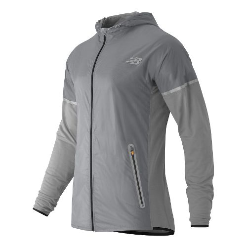 Mens New Balance Performance Merino Hybrid Jackets - Athletic Grey M