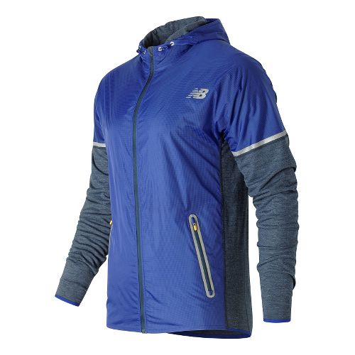 Mens New Balance Performance Merino Hybrid Jackets - Galaxy Heather L