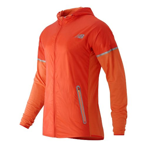 Mens New Balance Performance Merino Hybrid Jackets - Lava 2X