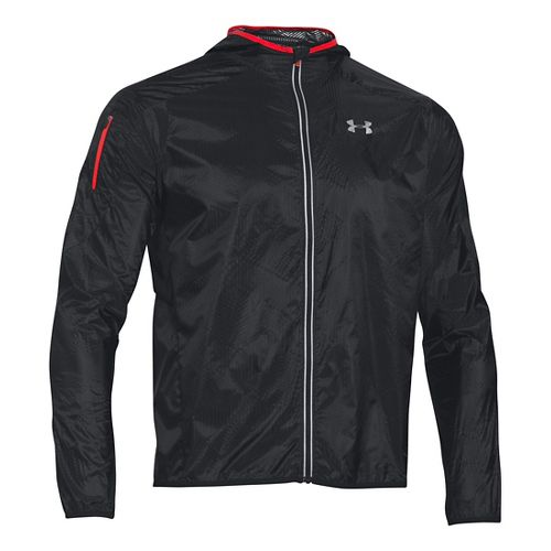 Mens Under Armour ColdGear Infrared Unstoppable Run Shell Running Jackets - Black L