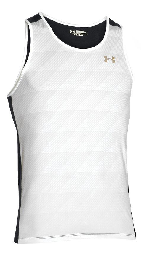 Mens Under Armour Unstoppable Singlet Sleeveless & Tank Technical Tops - White M-R