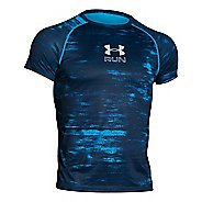 Mens Under Armour Run Printed T Short Sleeve Technical Tops