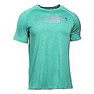 Mens Under Armour Run Printed Graphic T Short Sleeve Technical Tops