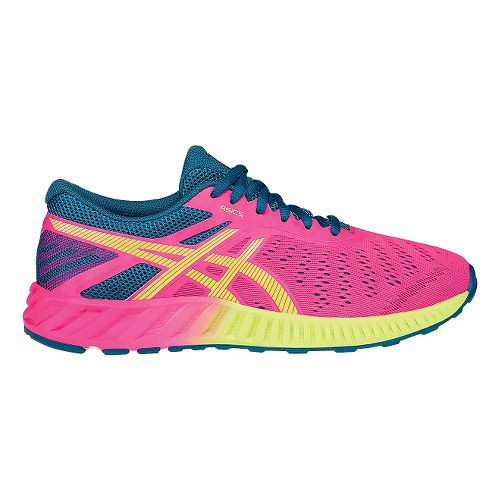 Womens ASICS fuzeX Lyte Running Shoe - Pink/Blue 10.5