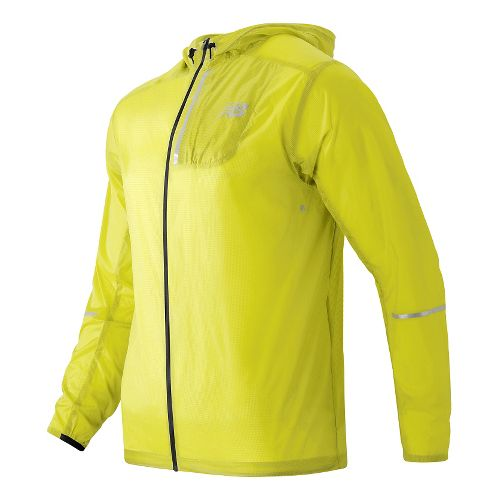 Mens New Balance Lite Packable Rain Jackets - Firefly M