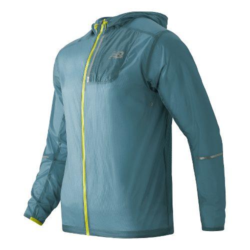 Mens New Balance Lite Packable Rain Jackets - Riptide L