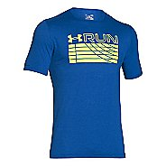 Mens Under Armour Run Track Graphic T Short Sleeve Technical Tops