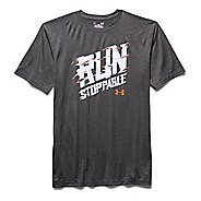 Mens Under Armour Run Graphic T Short Sleeve Technical Tops
